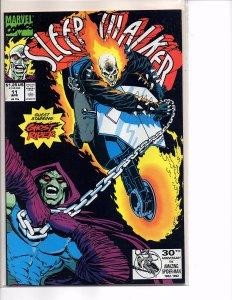 Marvel Comics Sleepwalker #11Ghost Rider Bret Blevins Art