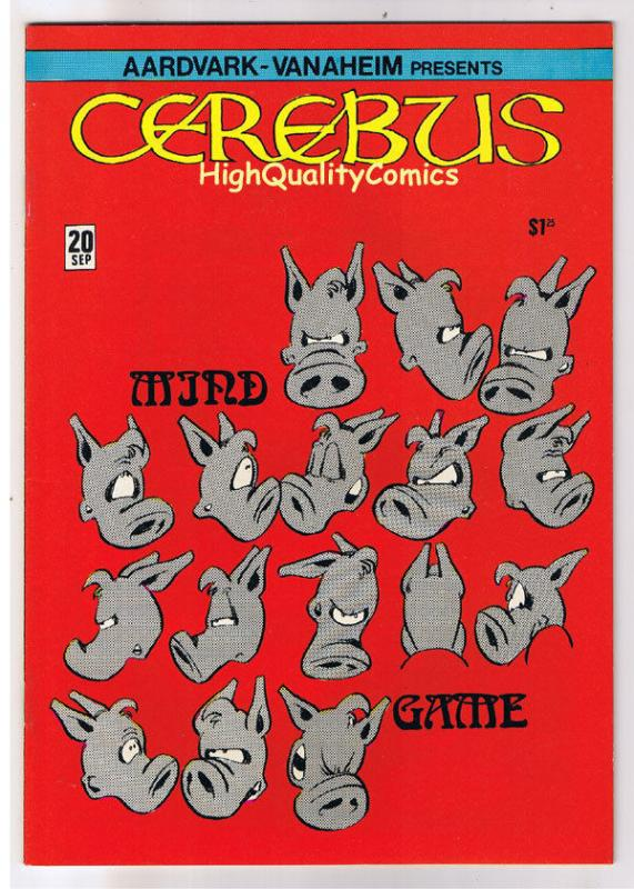 CEREBUS the AARDVARK 20, VF/NM, Dave Sim, Mind Game, 1977, more in store