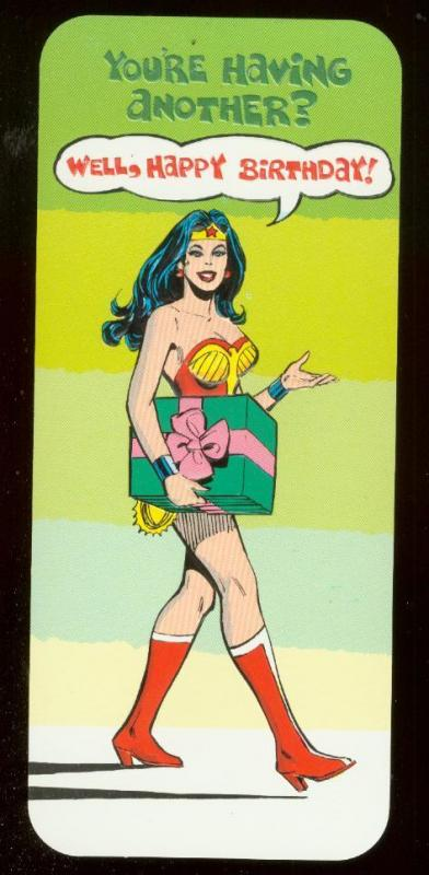 NEAL ADAMS WONDER WOMAN BIRTHDAY CARD #9 1978 NM