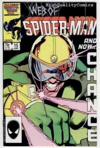 WEB of SPIDER-MAN #15, NM, Black Fox, Kyle Baker, 1985, Beachum, more in store