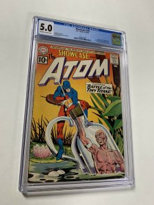 Showcase 34 Cgc 5.0 Ow/w Pages 1st Silver Age Atom Dc Comics