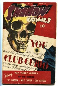 Shadow Comics v.4 #12 SKULL COVER! 1945-Castle of Death-Robot story