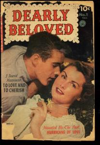 DEARLY BELOVED #1-PHOTO COVER-1952-RARE ROMANCE FR/G