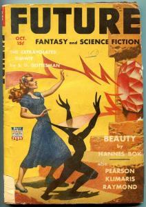 Future Fantasy Pulp October 1942- Hannes Bok story & art