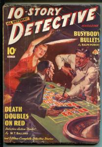 10 Story Detective 3/1939-Norman Saunders-Ace-roulette wheel-hard boiled-VG