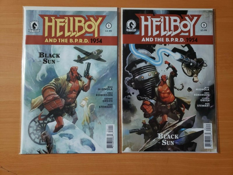 Hellboy and the B.P.R.D. 1954 Black Sun 1-2 Complete Set Run! ~ NEAR MINT NM ~