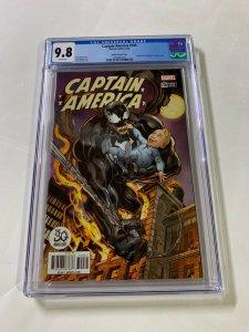 Captain America 700 Cgc 9.8 Venom Mark Bagley Variant Marvel
