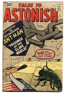 Tales to Astonish #41-Ant-Man-Kirby-Marvel-1962 VG