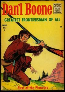 Dan'l Boone #1 1955- Western Comic- Davey Crockett Ad FR/GD