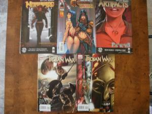 5 Comic: WITCHBLADE #151 MAGDALENA VAMPIRELLA #1 ARTIFACTS #21 TROJAN WAR #1 2
