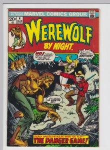 Werewolf by Night #4 (Mar 1973) 4.0 VG Marvel Horror
