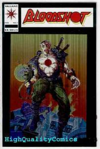 BLOODSHOT #1, NM, Chromium cv, Barry Smith, Valiant, 1993, more Valiant in store
