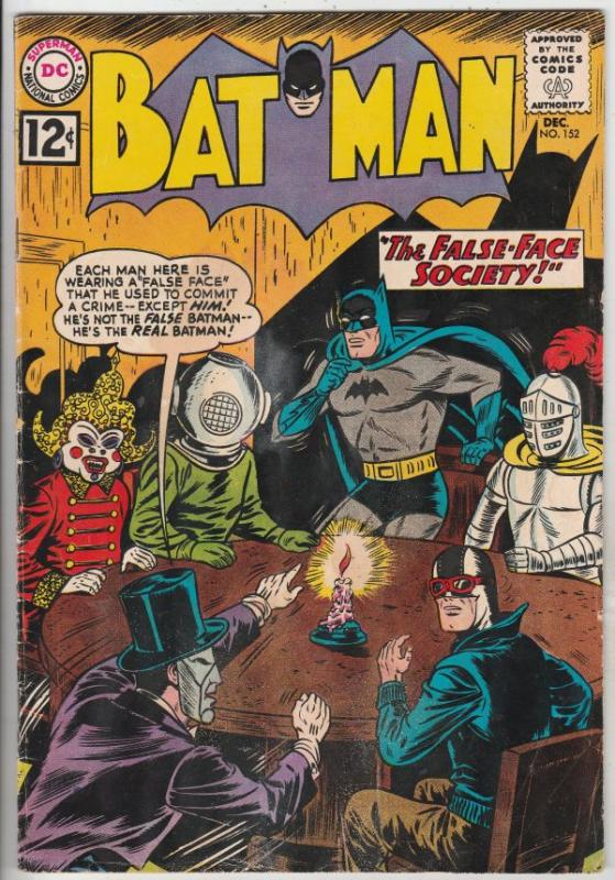Batman #152 (Dec-62) FN- Mid-Grade Batman