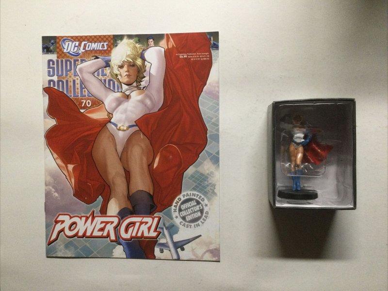 Power Girl Super Heros Collection 70 Lead Figure and Magazine Dc Comics Eaglemos