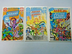 Justice League of America Annual #1-3 8.0 VF (1983-1985)