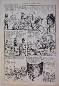 JOHN MITCHELL original art, JUNGLE COMICS #156 pg 24, 1952, 14x20, Tales, Africa