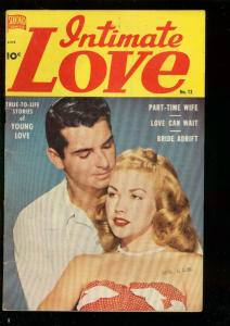INTIMATE LOVE #12 1951-PHOTO COVER-MAYFLOWER-PILGRIMS VG/FN