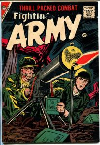 Fightin' Army #26 1958-Charlton-machine gun cover-Teddy Roosevelt-Cuba-VG+