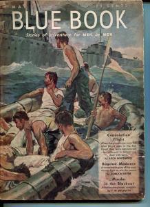 BLUE BOOK PULP-MAY 1943-FN-STOOPS COVER-BEDFORD-JONES-KEYNE-BRONSON FN