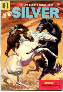 Lone Rangers Famous Horse Hi-Yo Silver-#16 1955-Dell-painted cover-VG/FN