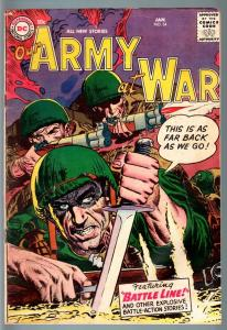 OUR ARMY AT WAR #54 1957-DC WAR COMIC-JOE KUBERT-VG+ VG+