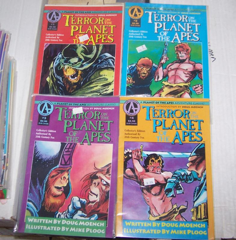 Terror on the Planet of the Apes #1 2 3 4 ( 1991, Malibu/adventure ) mini sereis