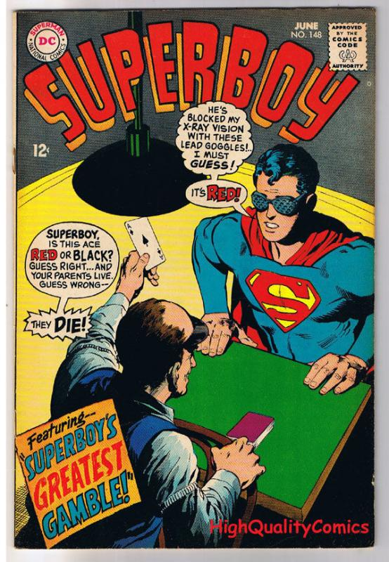 SUPERBOY #148, VF, Krypto, Neal Adams, Gamble,1949 , more DC in store