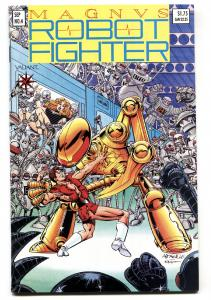 MAGNUS ROBOT FIGHTER #4-1st appearance of RAI-trading card-VF