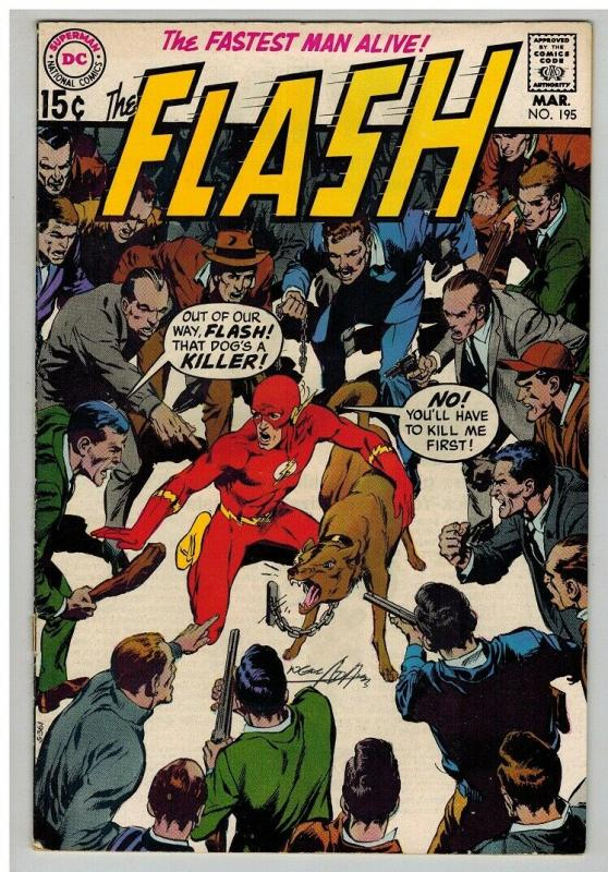 FLASH 195 VG-F March 1970 signed NEAL ADAMs