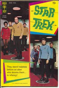 Star Trek #8 1970-Gold Key-William Shatner-Leonard Nimoy-photo cover-FN