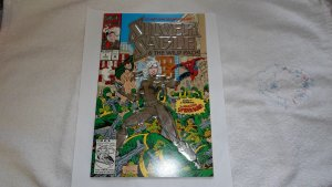 1992 MARVEL EMBOSSED SILVER SILVER SABLE # 1