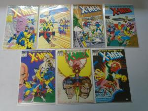 Official Marvel Index to the X-Men set #1-7 8.0 VF (1987 1st Series)