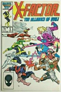 X-FACTOR#5 F/VF 1986 FIRST APOCALYPSE (CAMEO) MARVEL COMICS