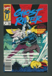 Ghost Rider #3 /  9.4 NM - 9.6 NM+  / Newsstand  July 1990