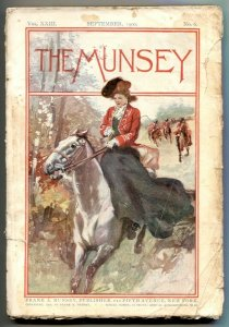 The Munsey Pulp September 1900- Great Fire of Hoboken G/VG