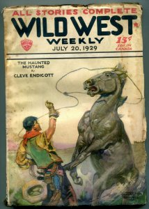 Wild West Weekly Pulp July 20 1929- Haunted Mustang G