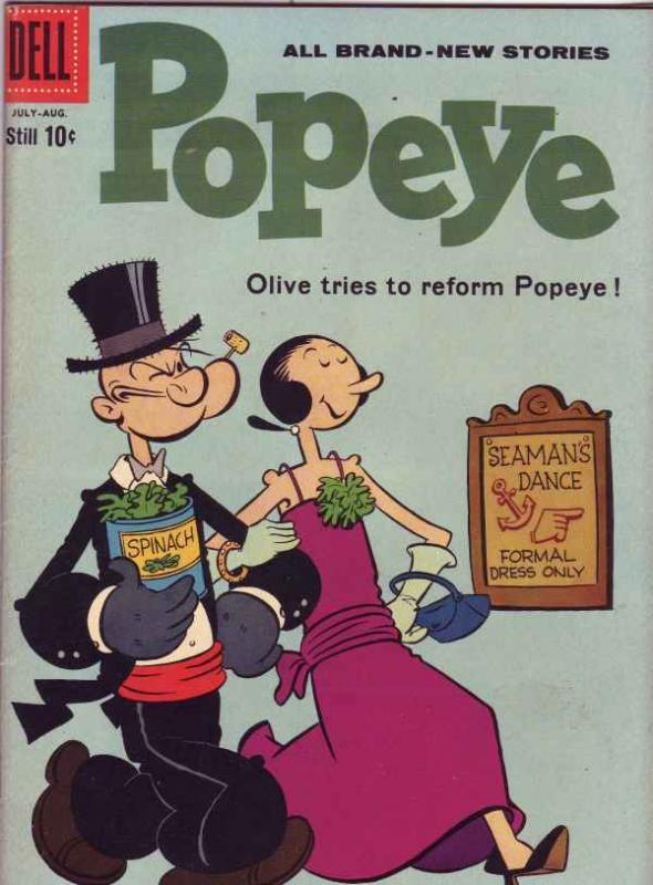 Popeye the Sailor #54 (Jul-60) VF High-Grade Popeye, Olive Oil, Sweetpea