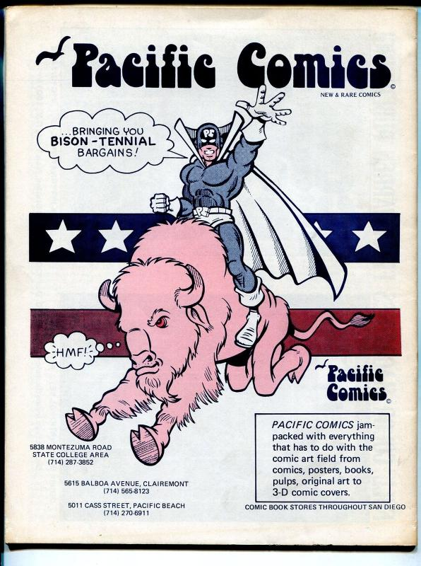 San Diego Comic-Con Program Book 1976-Aragones-Ditko-Schulz-historic-VG/FN