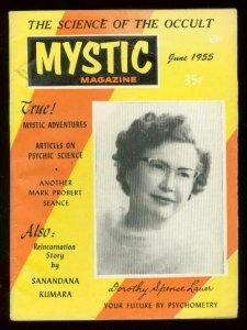 MYSTIC MAGAZINE JUNE 1955-OCCULT-SEANCE-REINCARNATION- FN
