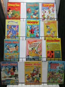 Disney British Annuals Lot of 12Diff from 1973-1991 Donald Mickey Uncle Scrooge