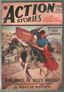 Action Stories-Summer 1947-Good Girl Art cover-Dan Cushman jungle story-VG