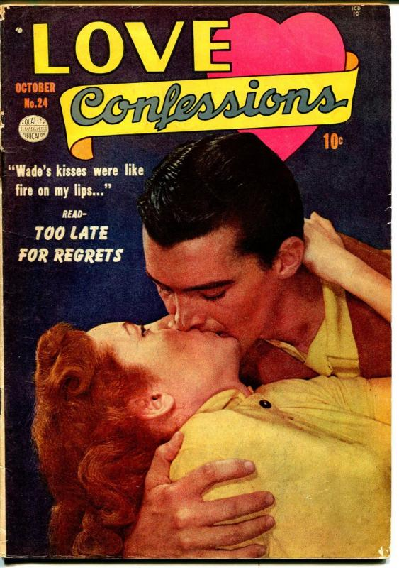 Love Confessions  #24 1952-Quality-photo cover-spicy art-swimsuit-lingerie-VG