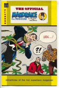 Official Mandrake The Magician #1 1988-Pioneer-1938 newspaper reprints-Lee Fa...