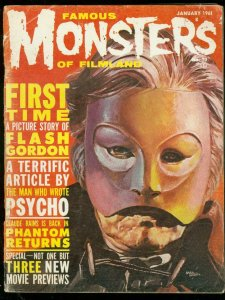FAMOUS MONSTERS OF FILMLAND #10-BASIL GOGOS COVER--FLASH VG-