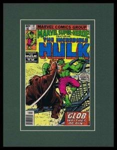 Marvel Super Heroes #81 Framed 11x14 ORIGINAL 1979 Marvel Comics Cover Hulk