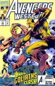 Avengers West Coast #92, VF+ (Stock photo)
