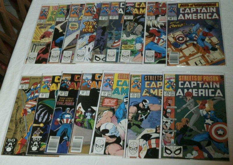 Captain America V1 #365-399 (missing 7) + 403,409 + Gruenwald, comics lot of 38
