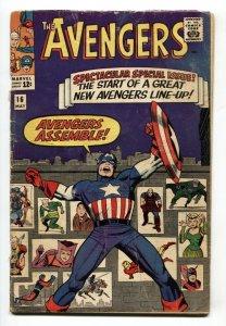 Avengers #16 Captain America-New Avengers Assemble comic book 1965