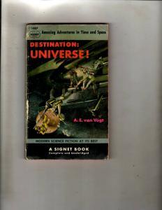 4 Pocket Books Destination Universe, Elvis Richard Man, Private, Heathcliff JL21