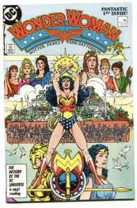Wonder Woman #1 DC  NEW ORIGIN 1987 George Perez VF/NM